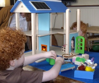 I can not wait to play with my fabulous doll house