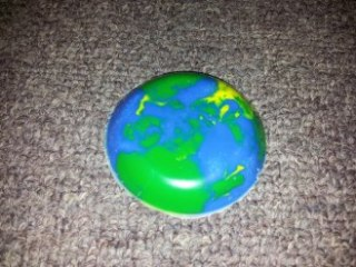 Fabulous home crafted Earth Crayon