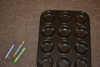 Earthday competition entree -  supplies needed crayons and baking tray