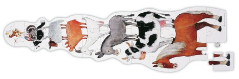 Janod barnyard ower puzzle with farm animals