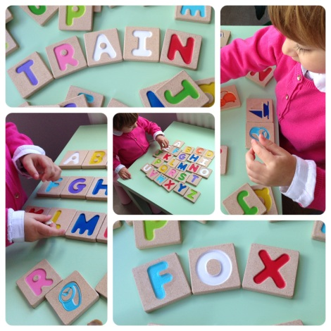 Learning Letters to toddlers Plan toys letterbox from the toadstool