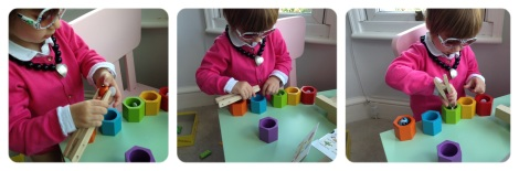 Beehives toddler color matching game with pincer