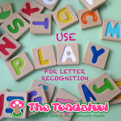 Using play for letter recognition~ TheToadstool.co.uk