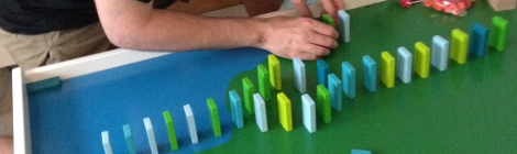 Haba wooden domino blocks