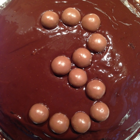 Chololate cake with maltesers